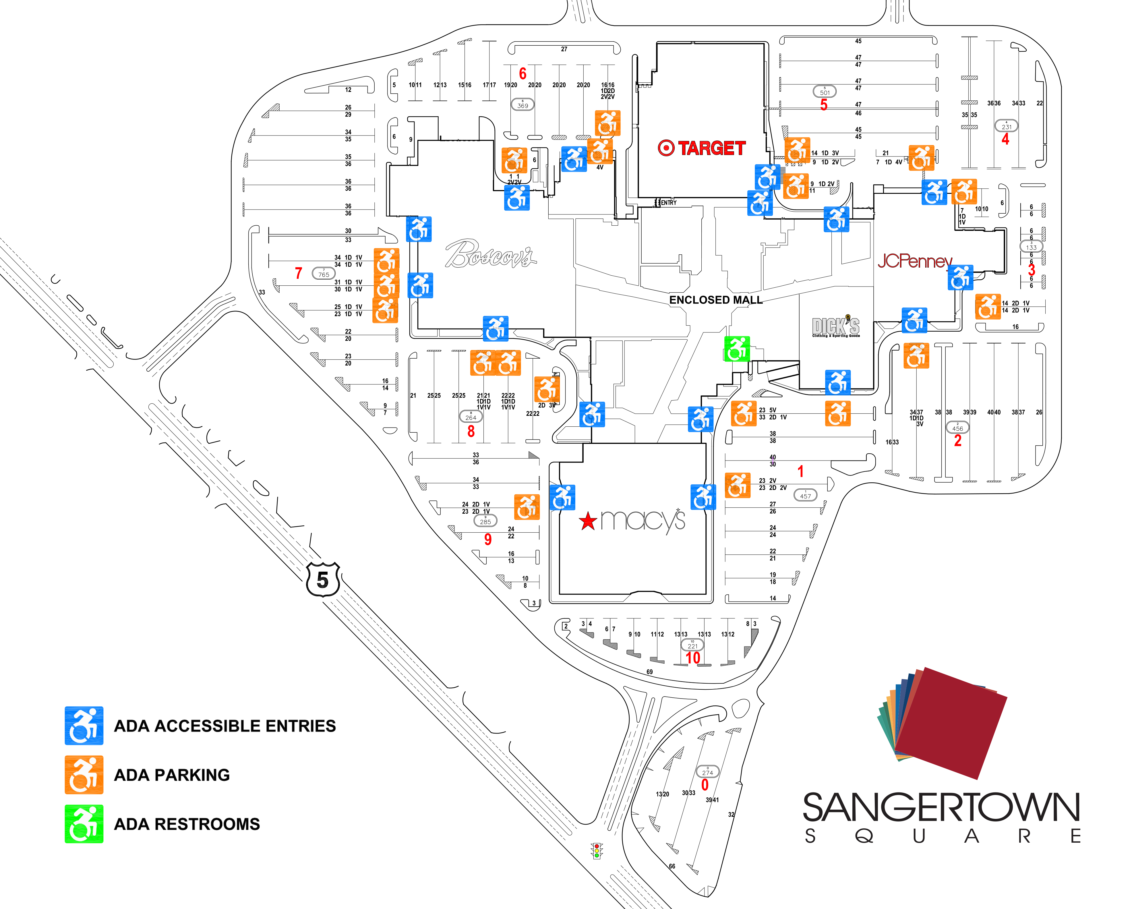 Sangertown ADA Map