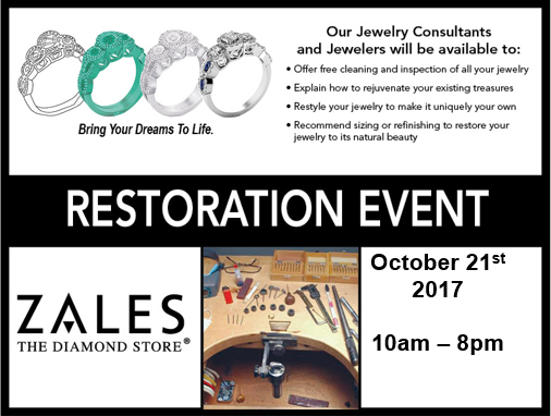 Jewelry Restoration Event Sangertown Square