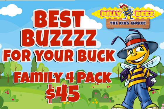 Family 4 Pack for $45