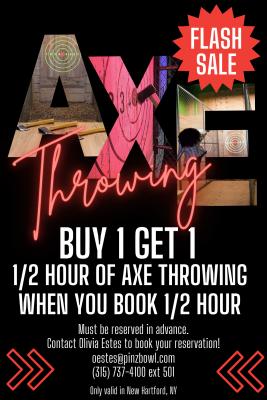 Flash Sale Axe Throwing